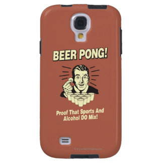 Beer Pong: Proof Alcohol & Sports Mix Galaxy S4 Case