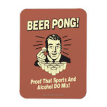 Beer Pong: Proof Alcohol & Sports Mix Rectangular Photo Magnet