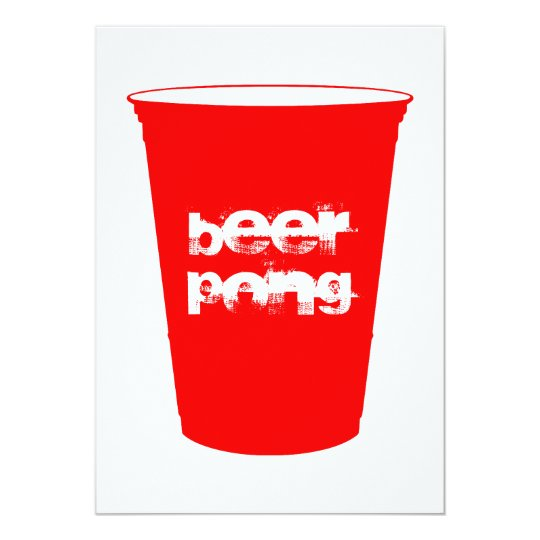 beer pong : red party cup card