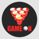 Beer Pong Round Stickers