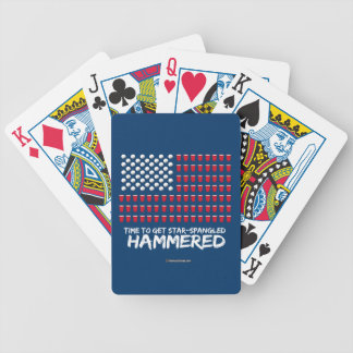 Beer Pong -Time to get star-spangled hammered Bicycle Playing Cards