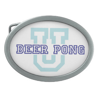 Beer Pong U belt buckle