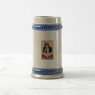 Beer Pong with Uncle Sam Coffee Mug