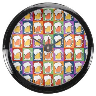 BEER Pop Art aqua clock