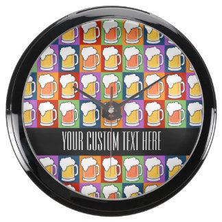 BEER Pop Art custom aqua clock