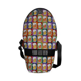 BEER Pop Art custom messenger bags