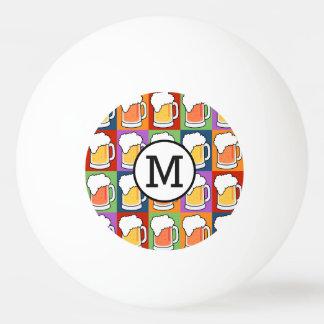 BEER Pop Art custom monogram ping pong balls