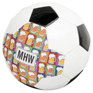 BEER Pop Art custom monogram soccer ball