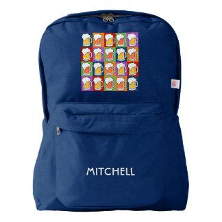 BEER Pop Art custom name backpack
