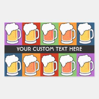 BEER Pop Art custom stickers