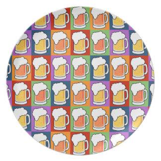BEER Pop Art melamine plates
