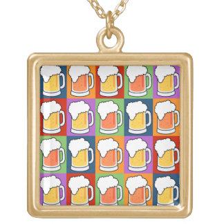 BEER Pop Art necklace