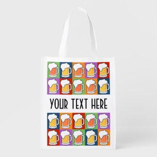 BEER Pop Art reusable bag Grocery Bag