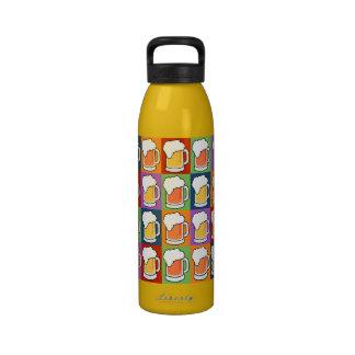 BEER Pop Art water bottles