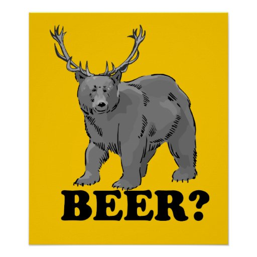 Beer? Poster $24.95