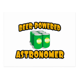 Beer-Powered Astronomer Postcard