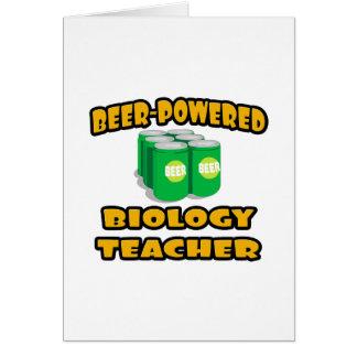 Beer-Powered Biology Teacher Greeting Card