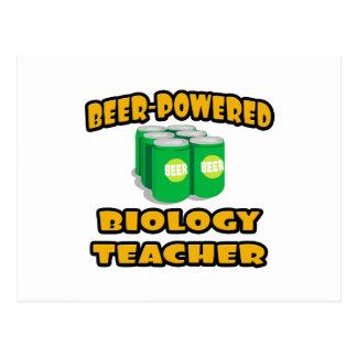 Beer-Powered Biology Teacher Post Card