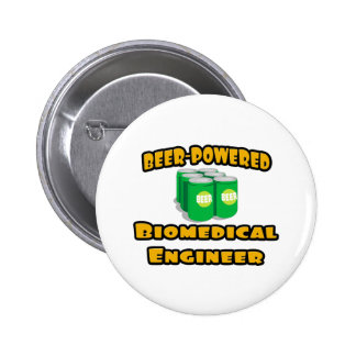 Beer-Powered Biomedical Engineer Pinback Button