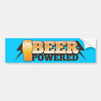 BEER POWERED BUMPER STICKER
