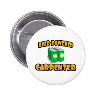 Beer-Powered Carpenter 2 Inch Round Button