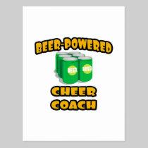 Beer-Powered Cheer Coach Postcard