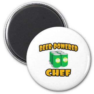 Beer-Powered Chef Refrigerator Magnets