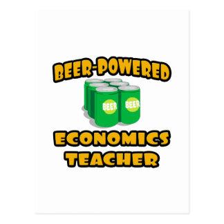 Beer-Powered Economics Teacher Postcard