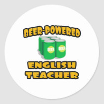 Beer-Powered English Teacher Sticker