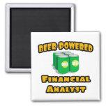 Beer-Powered Financial Analyst Fridge Magnet