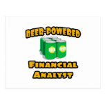 Beer-Powered Financial Analyst Postcards