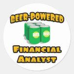 Beer-Powered Financial Analyst Round Sticker