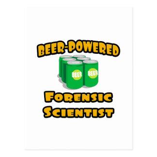 Beer-Powered Forensic Scientist Postcard