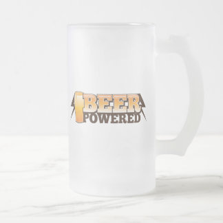 BEER POWERED FROSTED GLASS BEER MUG