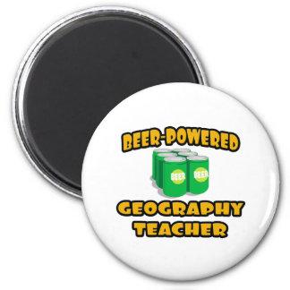 Beer-Powered Geography Teacher Fridge Magnets