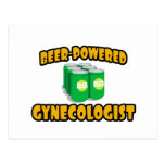 Beer-Powered Gynecologist Postcard