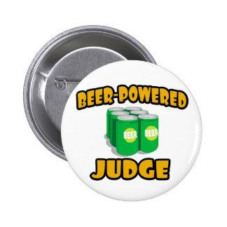 Beer-Powered Judge Pinback Button