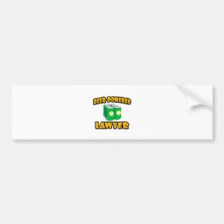 Beer-Powered Lawyer Bumper Sticker