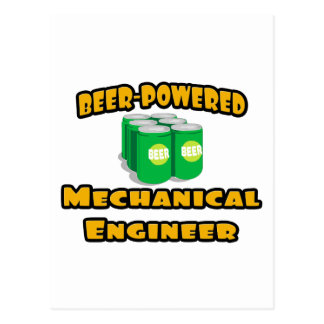 Beer-Powered Mechanical Engineer Postcard
