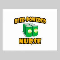 Beer-Powered Nurse Postcards