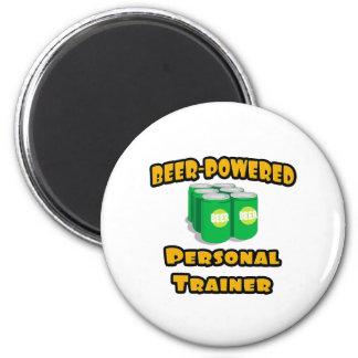 Beer-Powered Personal Trainer Fridge Magnet