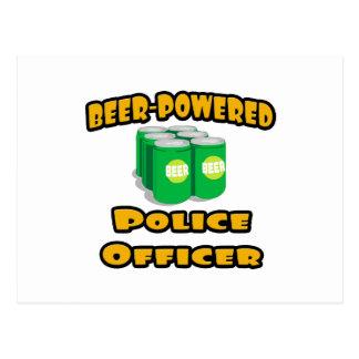 Beer-Powered Police Officer Postcard