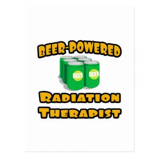 Beer-Powered Radiation Therapist Postcard