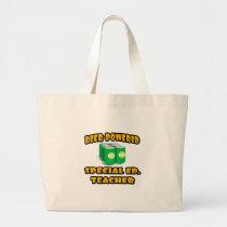 Beer-Powered Special Ed. Teacher Jumbo Tote Bag