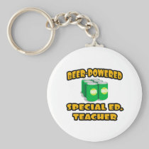 Beer-Powered Special Ed. Teacher Key Chain