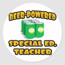 Beer-Powered Special Ed. Teacher Stickers