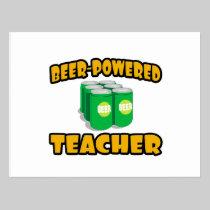 Beer-Powered Teacher Postcard