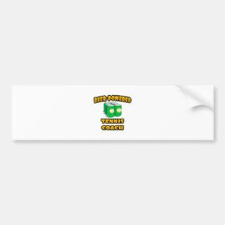 Beer-Powered Tennis Coach Bumper Stickers