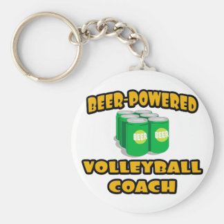 Beer-Powered Volleyball Coach Key Chains
