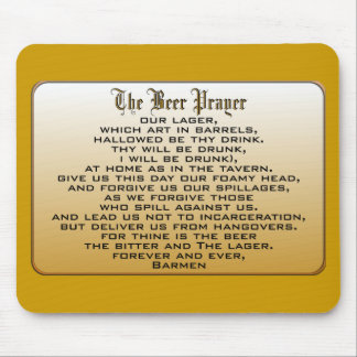 Beer Prayer Mouse Pad